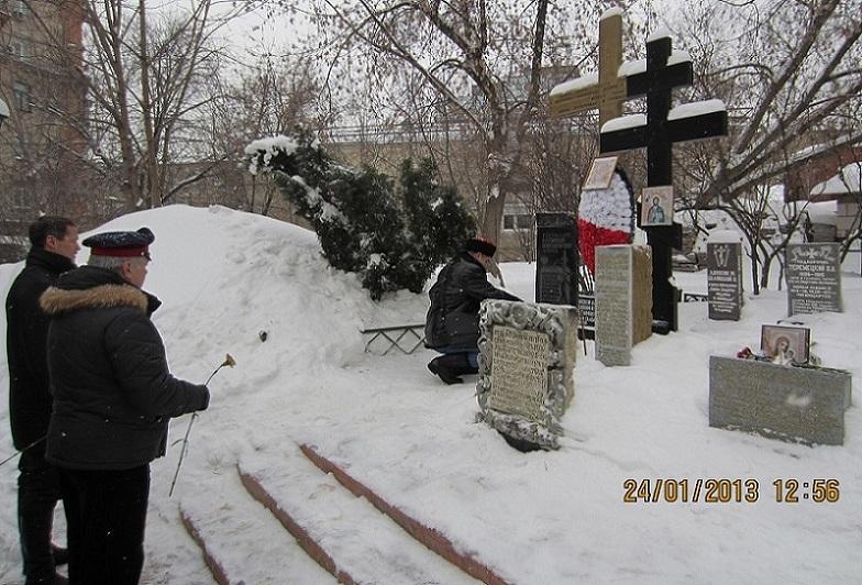В храме Всех Святых отслужили панихиду по казакам, погибшим в годы репрессий