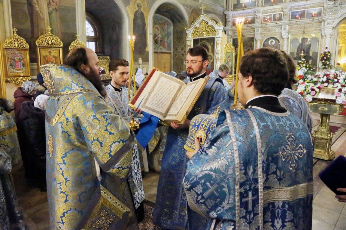 Архиерейское богослужение в день престольного праздника