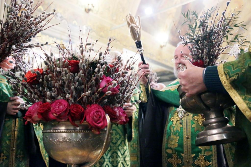 Праздник Входа Господня в Иерусалим. Всенощное бдение. Фото