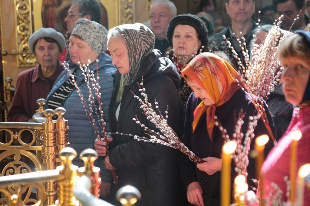 Вход Господень в Иерусалим. Литургия. Фото
