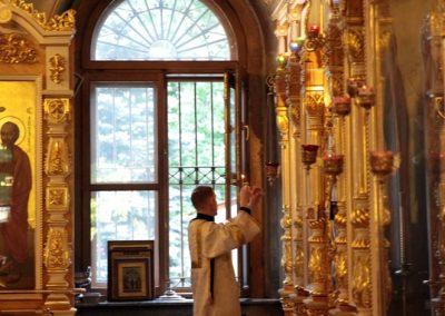 Праздник Вознесения Господня. Всенощное бдение. Фото.