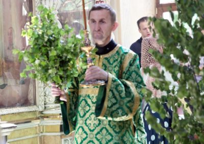 Литургия в день Святой Троицы и венчание