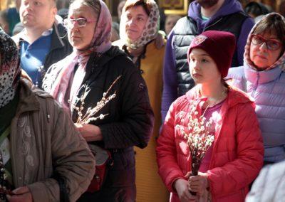 Литургия в день праздника Входа Господня в Иерусалим. Фотогалерея