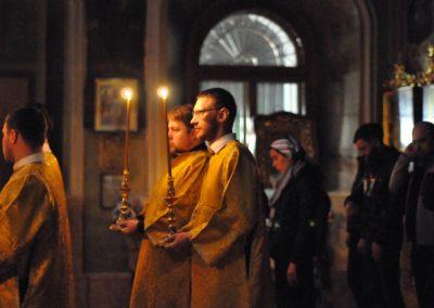 Ночная литургия молодёжной группы «Лествица»